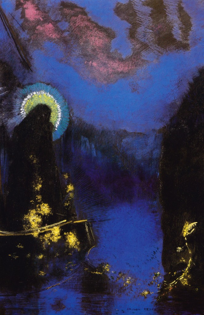 "Odilon Redon ""Virgin with a Halo"""